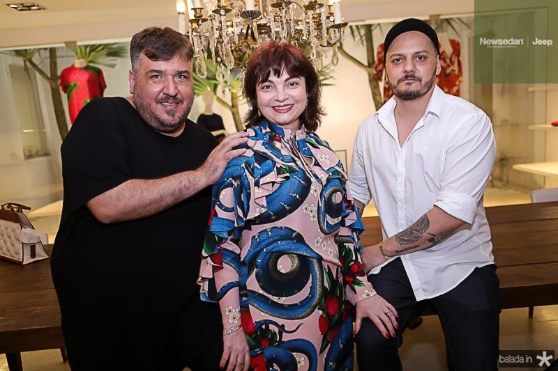 Leonan Dantas, Chistiane Leite e Giuliano Mazeti