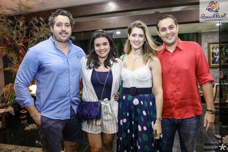 Thiago e Priscila Leal, Rebeca e Bruno Bastos