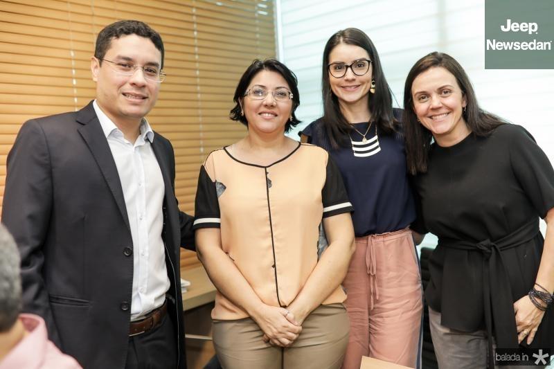 Luis Fernando, Sonia Parente, Natali Amaral e Veridiana Soares