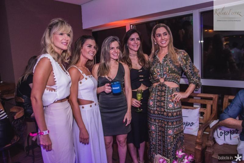 Bianca Bonorandi, Angela Martan, Mirela Magalhaes, Raquel Juca e Renata Ramos