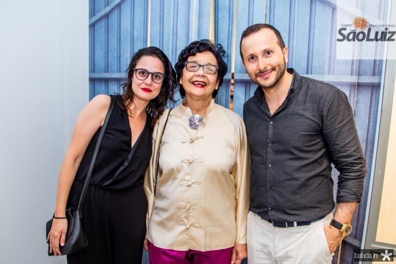 Marina Mesquita, Dodora Guimaraes e Thiago Braga