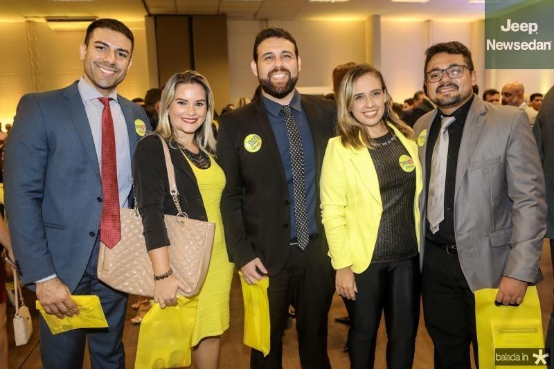 Rafael Marinho, Vivian Rocha, Marcos Costa, Natalia Matias e Junior Martins