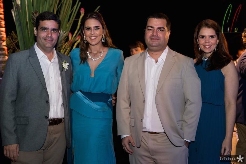 Stenio, Raquel, Rodrigo e Geovana Pimentel