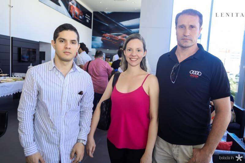 Walter Dias, Cintia Guimaraes e Rodrigo Verlang