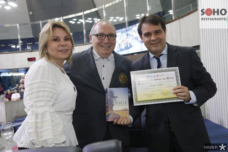 Albaniza Gomes, Padre Eugenio e Evandro Leitao