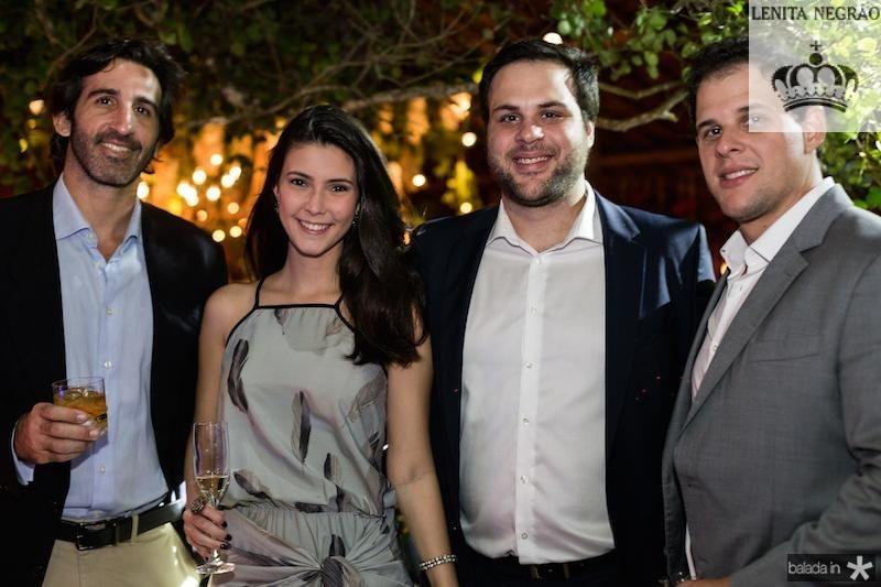 Lucas Fiuza, Mariana Gripp, Ricardo e Paulo Fiuza