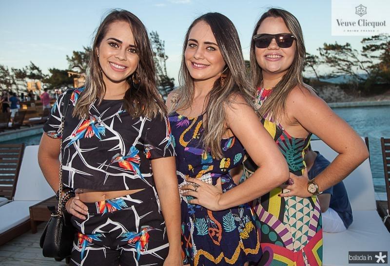 Germana Lopes, Yasmin Arruda e Jessica Camarço