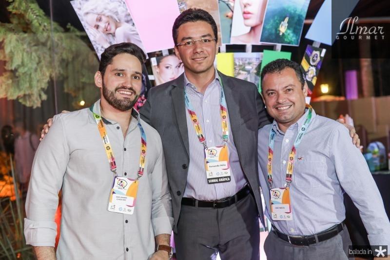 Igor Linhares, Fernando Helio Brito e Inacio Linhares