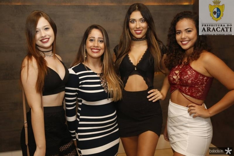 Emily Clarck, Beatriz Rodrigues, Jessica Vasconcelos e Beatriz Martins