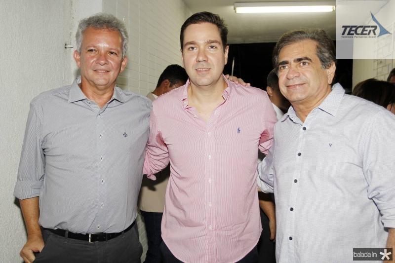 Andre Figueiredo, Eduardo Bismarck e Zezinho Albuquerque