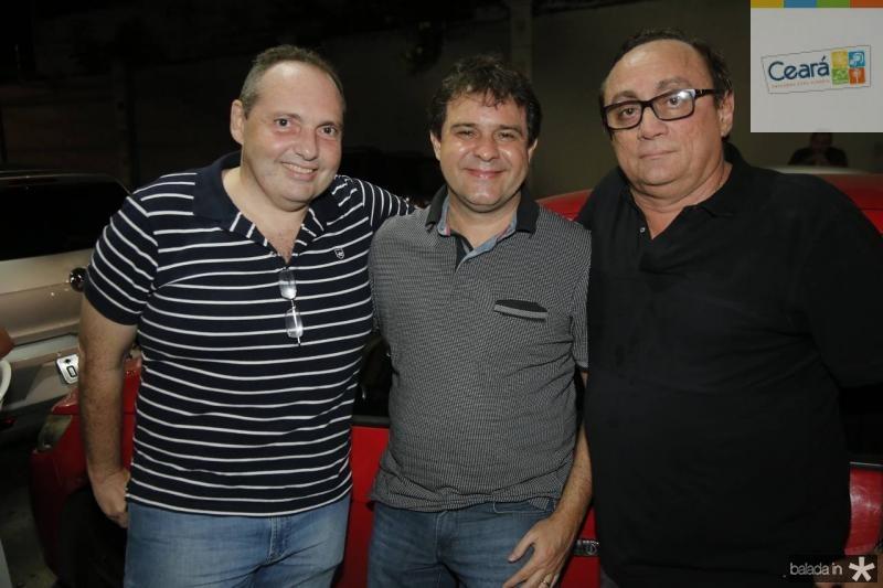 Disraele Ponte, Evandro Leitao e Tin Gomes