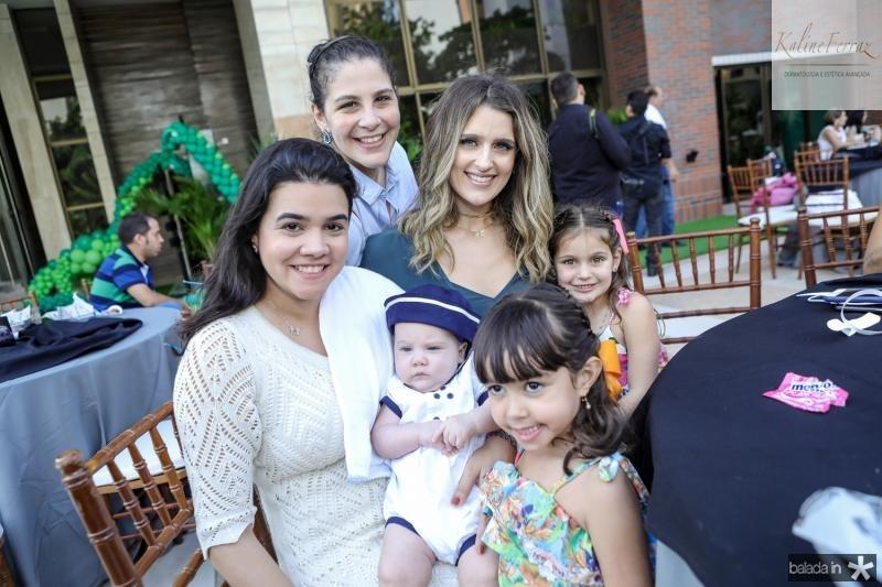 Priscila Ldeal, Lucas Ary, Sarah Leal, Carolina Ary, Rebeca e Athina Bastos