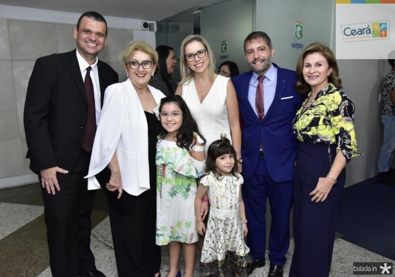 Tadeu Lustosa, Socorro Franca, Sandra,Andre, Livia e Lara Campos e Sandra Mendes