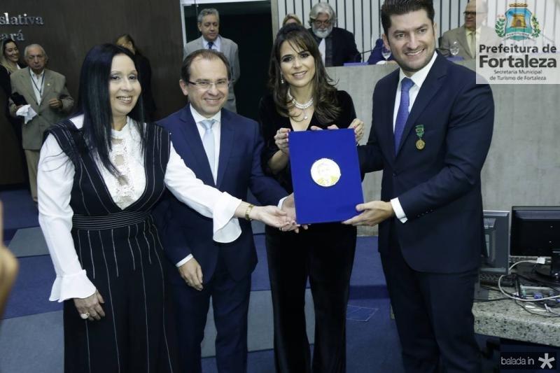 Valeria Colares, Carlos Matos, Camila e Paulo Jose Benevides