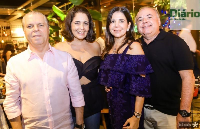 Claudio e Giana Studart, Maria Lucia e Pedro Carapeba