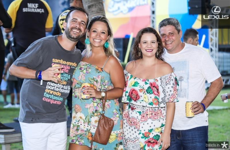 Marcos Carvalho, Camila Dantas, Mariane  e Marcelo Vilicicci