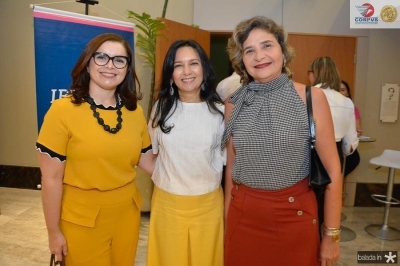 Daniele Sales, Aurineide Lemos e Claudia Eduardo