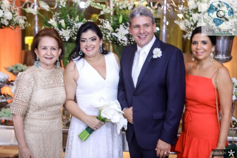 Lenita Negrao, Vivi Almada, Tobias Barreto e Maria Lucia Negrao