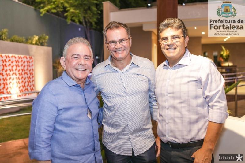 Fernando Linhares, Sergio Macedo e Alberto Mendonça