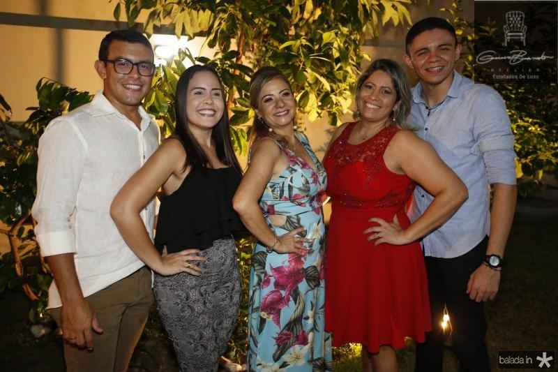 Samuel Macedo, Amanda Catarina, Simone Cardoso, Jarda Lacerda e Bruno Castro