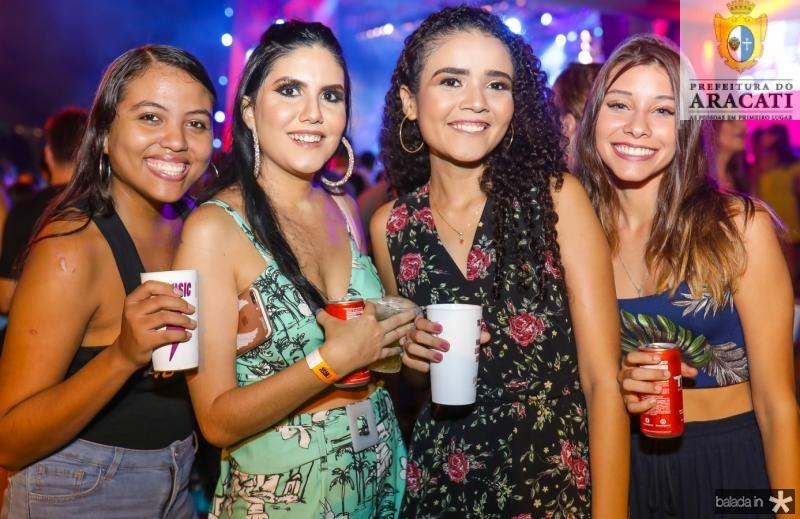 Sinara Pinheiro, Jessica Castro, Alana Lima e Bruna Metius