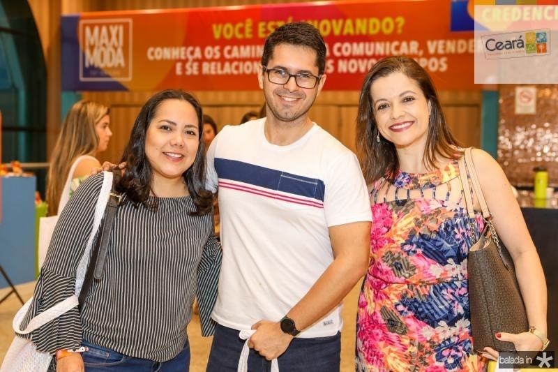Liz Lusano, Caius Vieira e Taciana Ribeiro