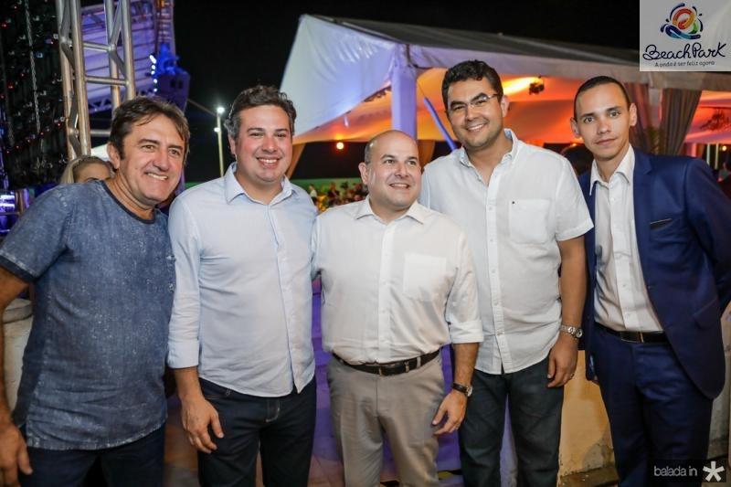 Adail Junior, Samuel Dias, Roberto Claudio, Iraguaçu Filho e Pedro Rocha