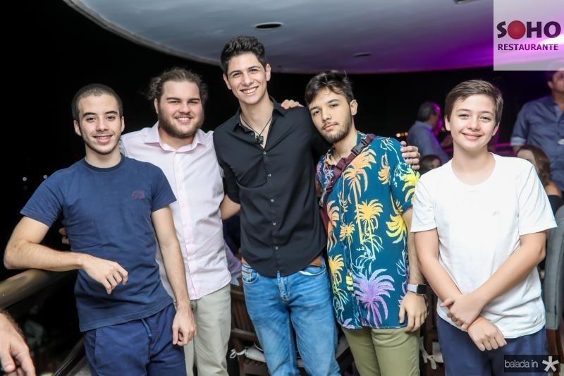 Gustavo Gomes, Leopoldo Cavalcante, Rodrigo Gomes, Miguel Lopes e Andre Gomes