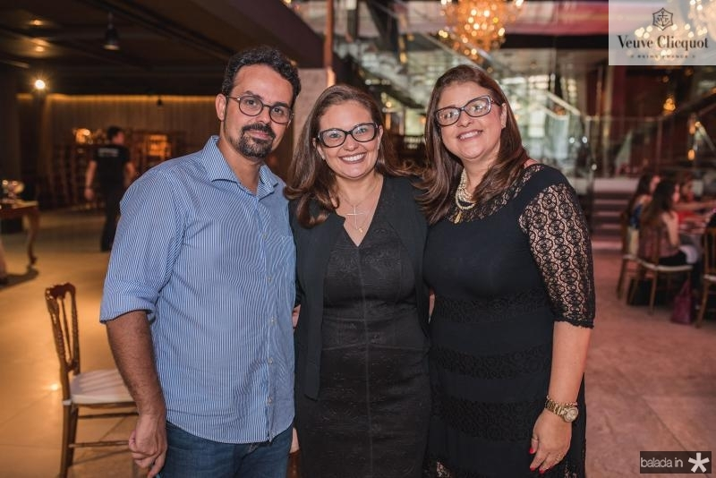 Neno Sampaio, Marcela Lacerda e Paula Ferreira