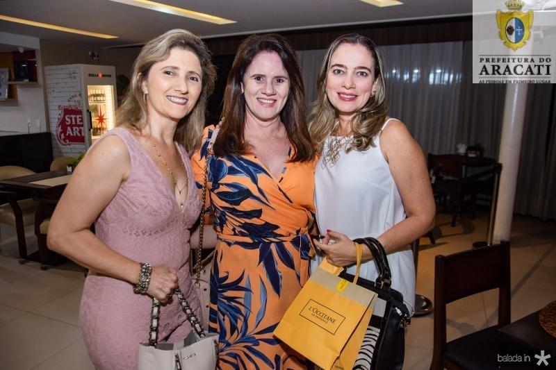 Glaucia Maia, Everlene Lima e Helena Pessoa