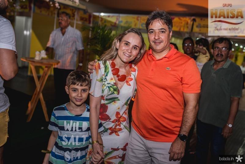 Marquinho, Fernanda e Marcos Pacobaiba