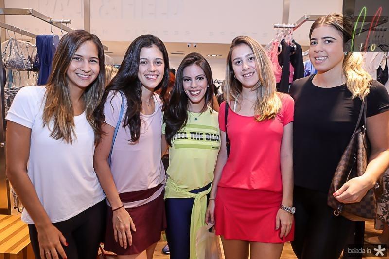 Marina Brasil, Naiana Azevedo, Manuela Rolim, Talita Pontes e Gabriela Assuncao