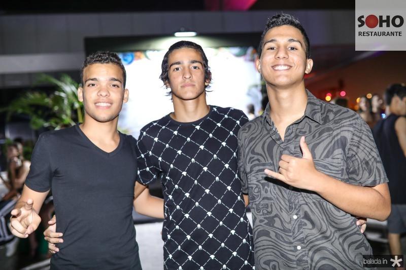 Joa Guilherme, Pedro Rios e Gabriel Monteiro