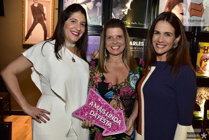 Elisa Oliveira, Silvinha Carneiro e Ana Virginia Martins