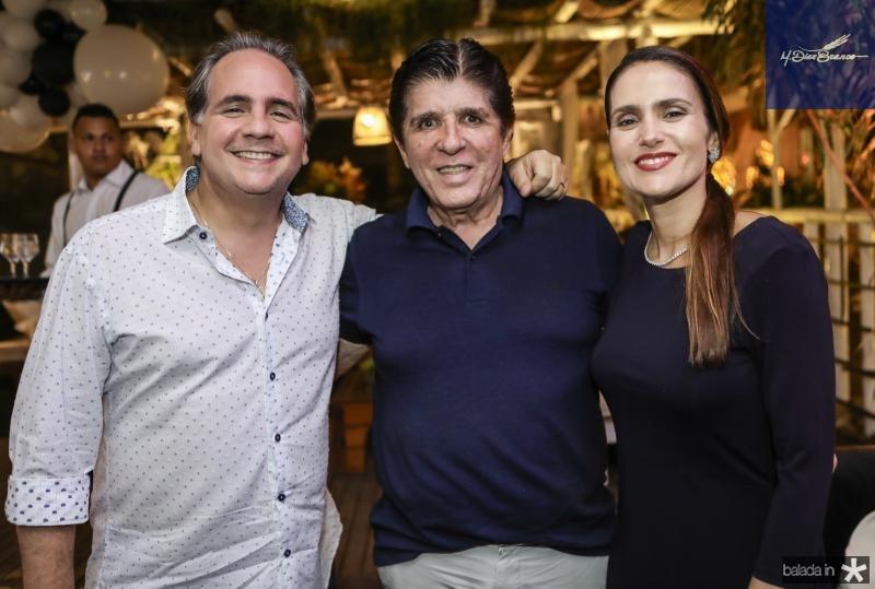 Ricardo Bacelar, Dito Machado e Manoela Bacelar