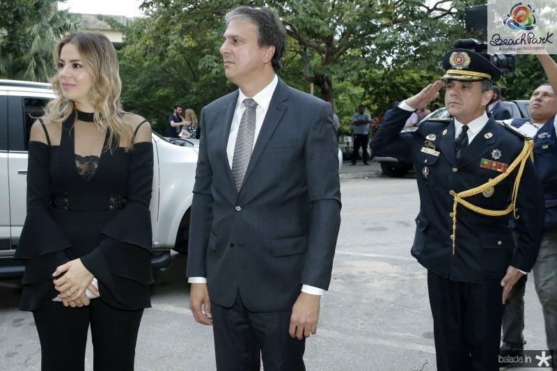 Onelia e Camilo Santana e Coronel Studart