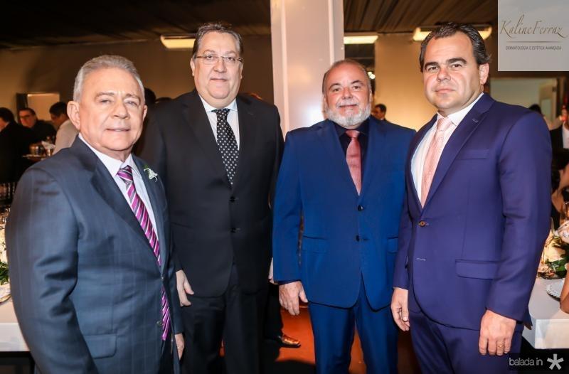 Fernando Linhares, Valdomiro Tavora, Pedro Carapeba e Gentil Linhares