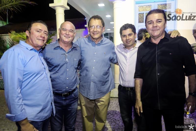 Darlan Leite, Ricardo Araujo, Elpidio Nogueira, Pompeu Vasconcelos e Elizeu Barros