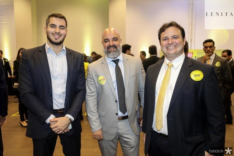 Rodrigo Maia, Eduardo Sena e Felipe Amaral