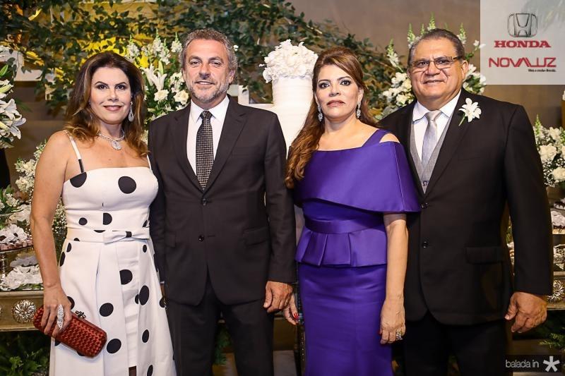 Carla Nogueira, Carlos França, Philomena e Mauricelio Araujo