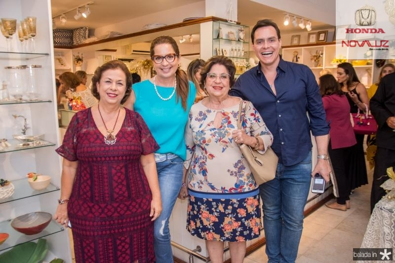 Julia Philomeno, Marcia Andrea, Elsa Silva e Francisco Campelo