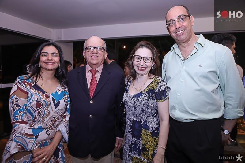 Katerine Mihaliuc, Fernando Ximenes, Julian Borges e Marcelo Ponte