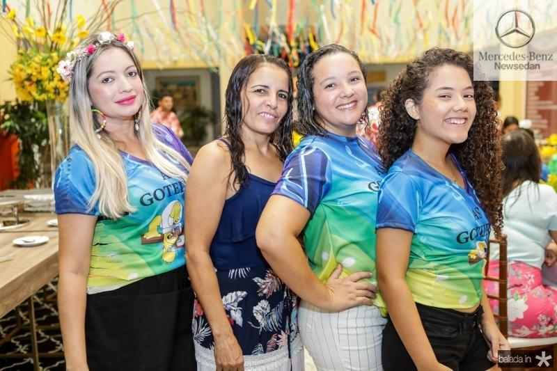 Kelly Lima, Josuila Moura, Eliane Rocha e Vitoria Ellen