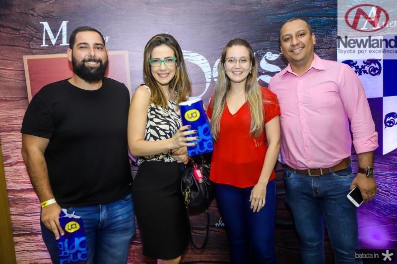 Vitor Torres, Adamir Macedo, Nayra Menescal e Cidney Correa