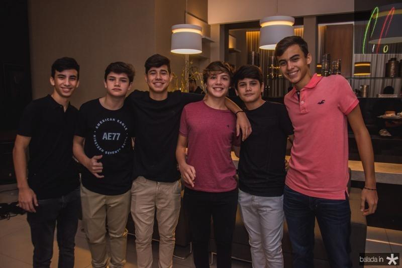 Davi Lima, Pedro Queiroz, Carlos Rosato, Gabriel Frota, Lucas Bezerra e Lucas Sales