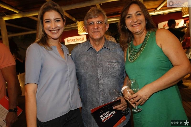 Leliane Pinheiro, Almeida Junior e Ana Paula Cartaxo