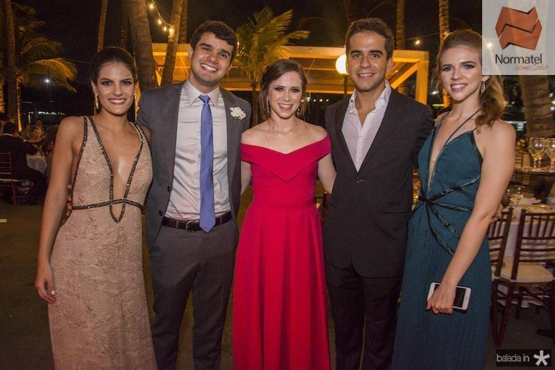 Marcela Gripp, Daniel Filho, Lara Araruna, Matheus Frota e Ana Araruna