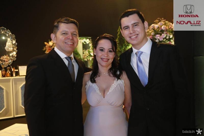 Amilcar, Adriana e Lucas Lemos