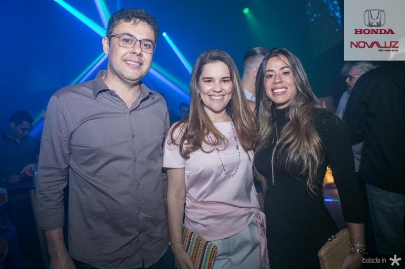 Gustavo Cruz, Ana Paula Domene e Germana Rabelo