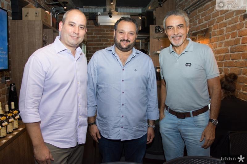 Andre Linheiro, Patriolino Dias e Paulo Angelim